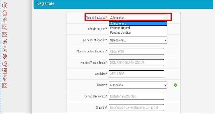 Relleno de datos para registro en alcaldía de Medellín para consultar impuesto predial