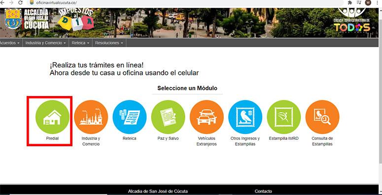 Ingreso Pagina Oficina Virtual Alcaldía Cucuta Impuesto Predial
