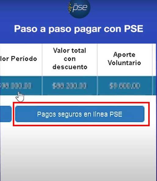Opcion Pago Seguro en Linea PSE Impuesto Predial Soacha