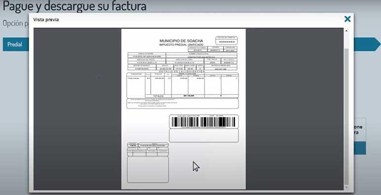 Verificacion Factura Impuesto Predial Soacha