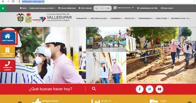 Ingreso Portal Tributario Pagina Alcaldia Valledupar Impuesto Predial