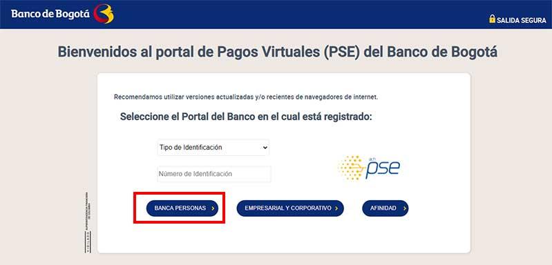 Pago Por PSE Banco de Bogota