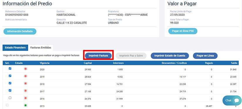 Verificacion Consulta Impuesto Predial Villavicencio