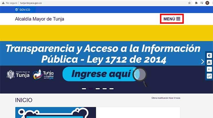 Portal Web Alcaldia Tunja Impuesto Predial