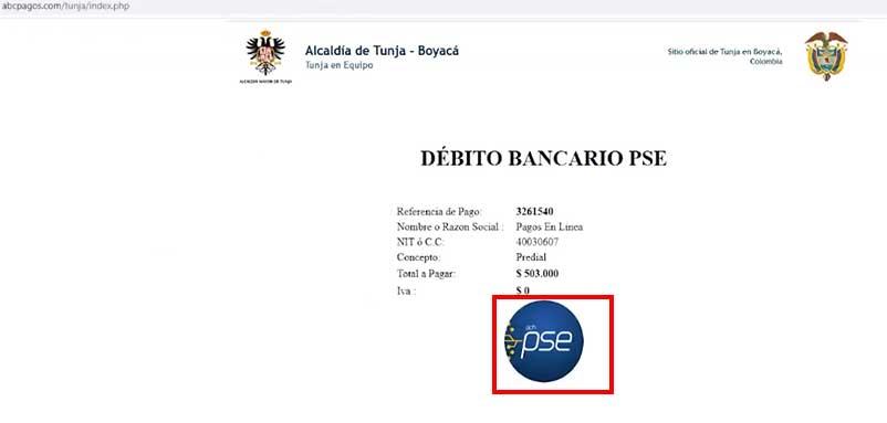 Seleccion Boton PSE