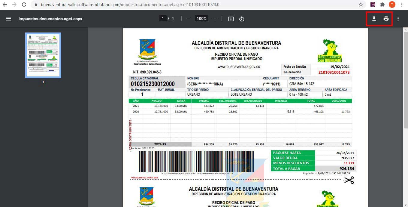 Factura-Impuesto-Predial-Buenaventura