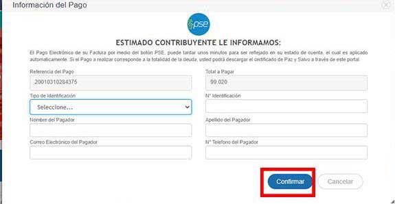 Informacion de Pago PSE Predial Buenaventura