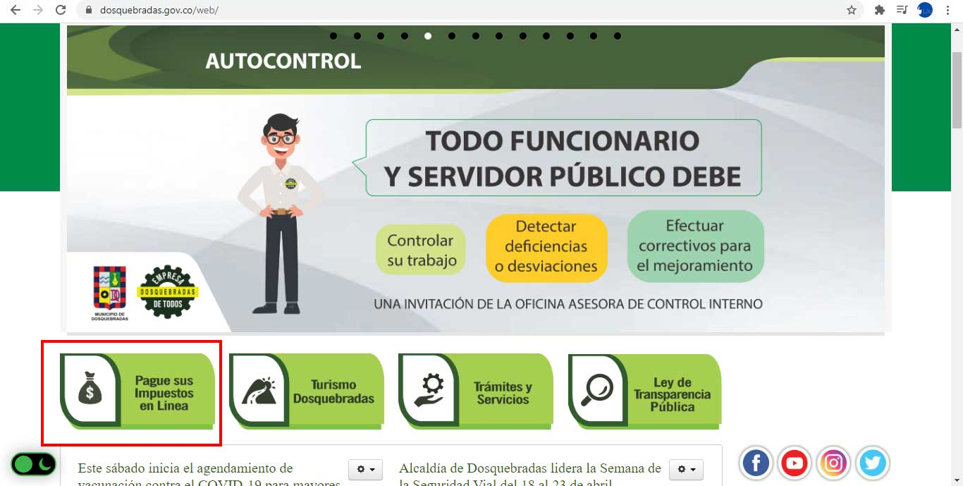 Acceso Portal Alcaldia Dosquebradas