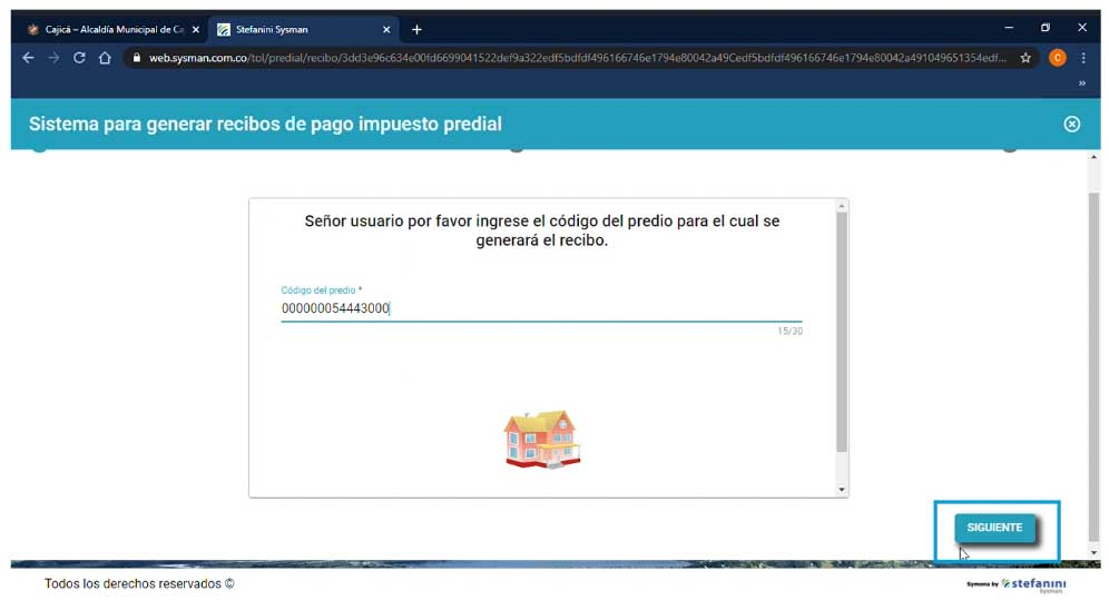 Codigo Catastral para Generar Recibo Predial Cajica