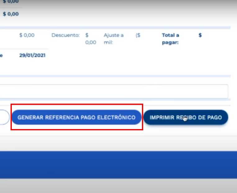 Generar Pago de Referencia Electronica Impuesto Predial Bucaramanga