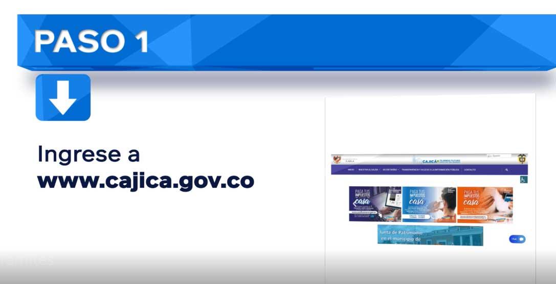 Paso 1 Impuesto Predial Cajica